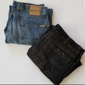 Men's Levi's and Calvin Klein Jeans